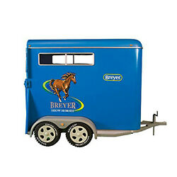 New Breyer Two-horse Trailer 2617 19 Traditional Horse Toys Horse Box Vehicle