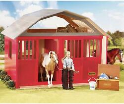 New Breyer 307 Two-stall Wood Barn Traditional 19 Scale Horse Stable Stables