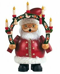 German Incense Smoker Santa Claus Under Candlearch, Height 16 Cm .. Mu 16031 New