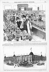 Horticultural Society Show New York City - New Orleans Exposition Building -1884