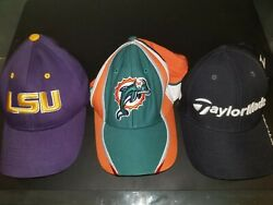 Lsu Tigers, Miami Dolphins, Taylormade Golf Caps Hats