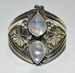 Natural Moonstone 925 Sterling Silver Ring Jewelry S.7.5 Jb15748