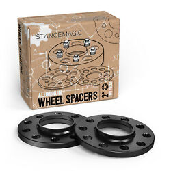 2pcs 10mm Black Hubcentric Wheel Spacers With Lip | 5x120 | 74.1mm Centerbore