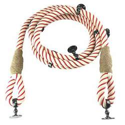 32mm Cotton Red Wormed Soft Eyes Bannister Rope 12 Ft C/w 7 Gun Metal Fittings