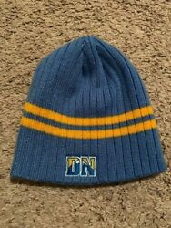 Denver Nuggets Nba Blue Winter Fitted Cuffless Knit Beanie Hat Skully Cap