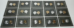 The Franklin Mint Excalibur Backgammon Tokens Complete 15 Sets Of 2 30 In Total