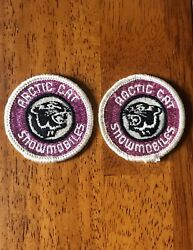 Nos 2 Vintage Arctic Cat Snowmobile Patches 70's Race Advertising Sign