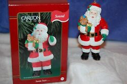 Nib Carlton Cards Rudolph Red-nosed Reindeer Santa Ornament Light And Sound 1998