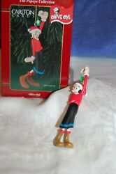 Carlton Cards Olive Oil Ornament 1998 New In Box Spinach Christmas Tree Popeye