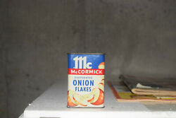 Vintage Mccormick Spice Onion Flakes Tin Litho Can