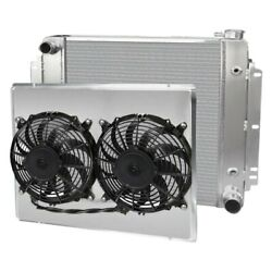 For Chevy Chevy Ii 62-67 Afco Muscle Car Performance Radiator W Dual Fan