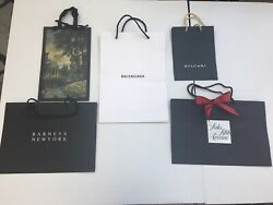 Five Designer Store Paper Shopping Bags NEW