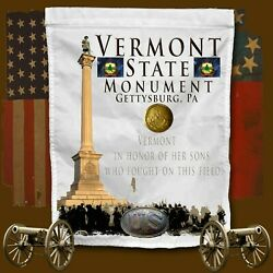 Vermont State Monument, Gettysburg, Pa American Civil War Themed Yard Flag