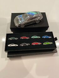Porsche 911 Paper Weight And Timeless Machine Metal Pin Collection