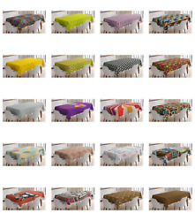 Ambesonne Retro Elements Tablecloth Table Cover For Dining Room Kitchen