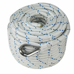 Extreme Max 3006.2547 Nylon Anchor Line W/thimble-3/4x600and039white W/blue Tracer