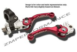 Suzuki Ltr 450 06 - 09 F4 Shorty Asv Clutch And Brake Levers Red Pair Pack