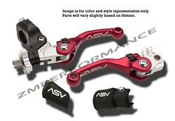 Suzuki Ltr 450 06 - 09 F4 Shorty Asv Clutch And Brake Levers Red Pair Pack Kit