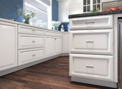 Forever Mark Kitchen Cabinets K-white Gold Collection 10x10 All Wood Kw11