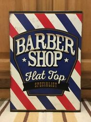 Barber Shop Flat Top Special Metal Shave Oster Clipper Hair Salon Vintage Style
