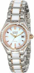 Octavia Two-tone Ladies Eco-drive Citizen Signature Collection Watch