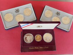 9 Coin 1983 And 1984 Gold And Silver Olympic Coin Sets W/ First 10 Gold W Mint Mark