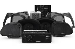 Rockford Fosgate Hd9813rg-stage3 Source Unit And Four Speakers Kit