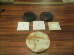 Mixed Vintage Lot Used Wood Wooden Lamp Bases Pedestals Stands Lighting Parts
