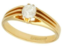 Antique 0.70ct Diamond And 18k Yellow Gold Gent's Ring