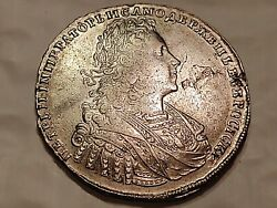 Russian 1729 1 Rouble Silver Coin