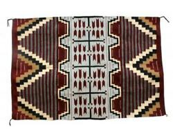 Donald Yazzie Navajo Chief Blanket Handwoven 47and039and039 X 70and039and039