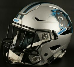 Carolina Panthers Nfl Authentic Gameday Football Helmet W/ Sf-2eg-ii Facemask