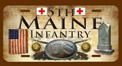 5th Maine Infantry American Civil War Themed License Plate/tag