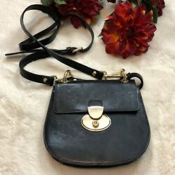 Valentina Women#x27;s Black Leather Bags Crossbody Bags One Size $65.00
