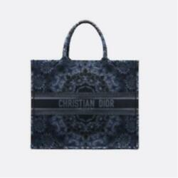 CHRISTIAN DIOR Book Tote bag limited design Canvas 41.5*35*18cm with Dust bag