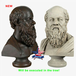 ❤️️socrates Bust❤️️wood Carved Sculpture Statue Figure Artwork Picture Icon