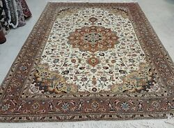 Antique Hand Knotted Rug 6''6 X 10' Wool With Silk Foundition