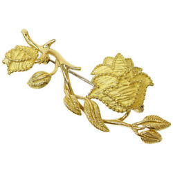 Tiffany & Co. Flower Design Brooch in 18K Yellow Gold wBag D6639
