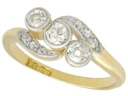 Antique Diamond And 18k Yellow Gold Twist Ring