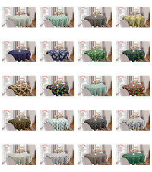 Ambesonne Leaves Bloom Round Tablecloth Table Cover For Dining Room Kitchen