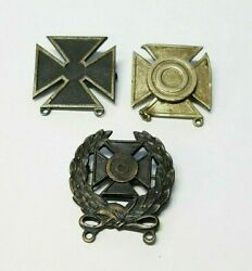 Lot Of 3 Vintage Wwii Us Army Pins Badges Marksman Sharpshooter And Expert
