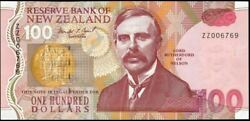 New Zealand - 100 Replacement Note - Brash - Zz006769 - Uncirculated