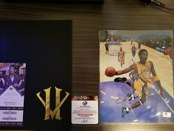 Authentic Kobe Bryant Retirement Letter Sealed Farewell Game, Autograph Pic Coa