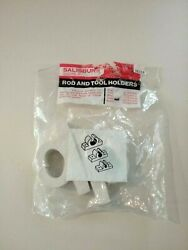 Rod And Tool Holder White Rubber 1 2-pack Salisbury Nos