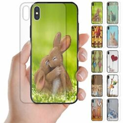 For Oppo Series Easter Bunny Print Theme Tempered Glass Back Case Phone Cover 1