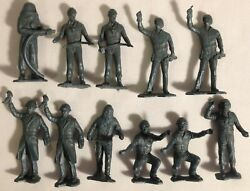 Marx Cape Canaveral Space Center Toy Figures Lot Of 11 Ground Crew Vintage