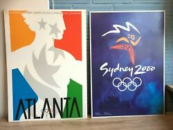 Collection Of 17 Summer Olympic Games Posters Vintage Museum Lausanne Official