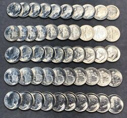 Original Roll Of 50 Uncirculated Silver 1949-s Roosevelt Dimes. Key Date