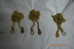 Grandfather Clock Chains For Jauch 77 Movement Set Of 3 For Parts Or Project