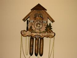 Cuckoo Clock With Music Wooden Weights Working 8 Day Clock